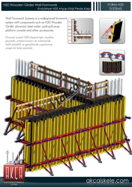 H20 Wooden Girder Wall Formwork FORM-H20 -H20 Wooden Wall Formwork